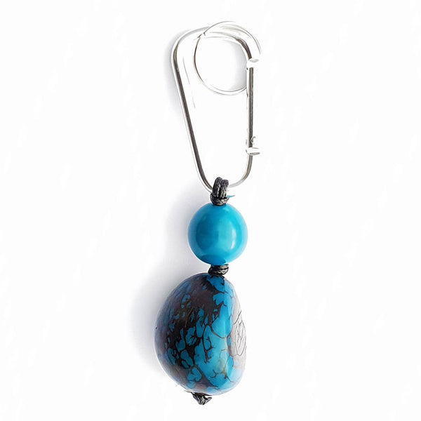 Turquoise Keyring - Pretty Pink Jewellery
