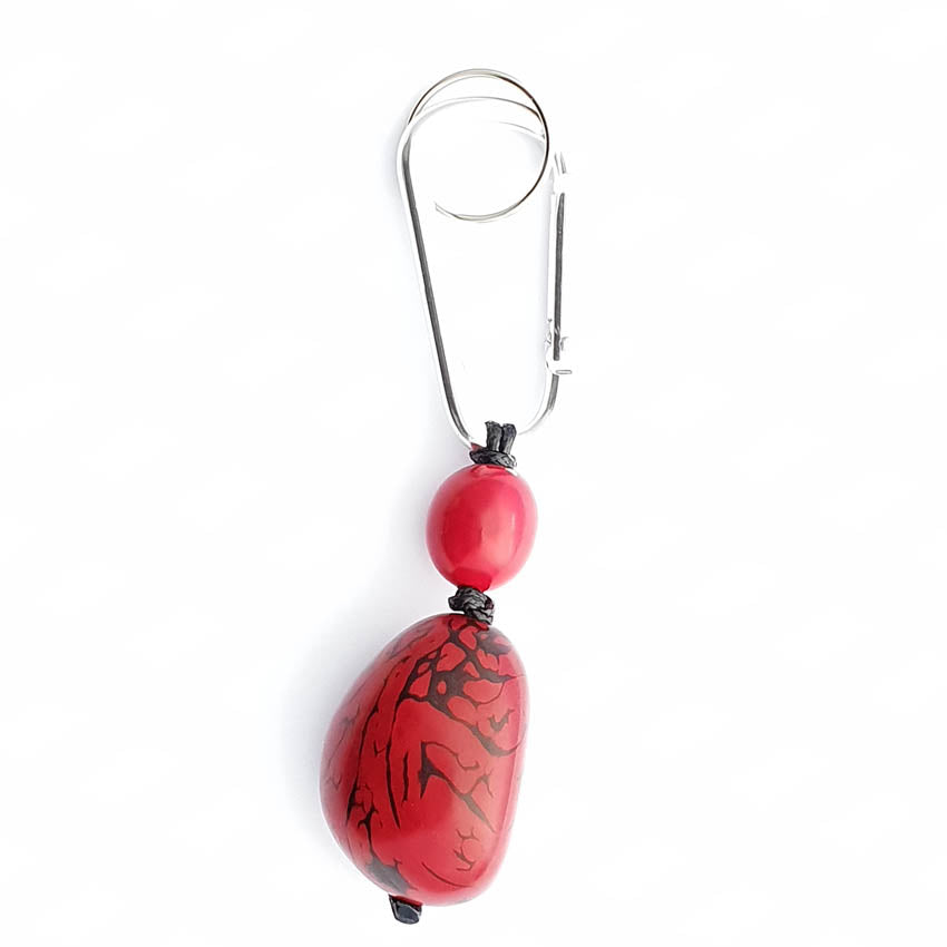 Red Keyring - Pretty Pink Jewellery