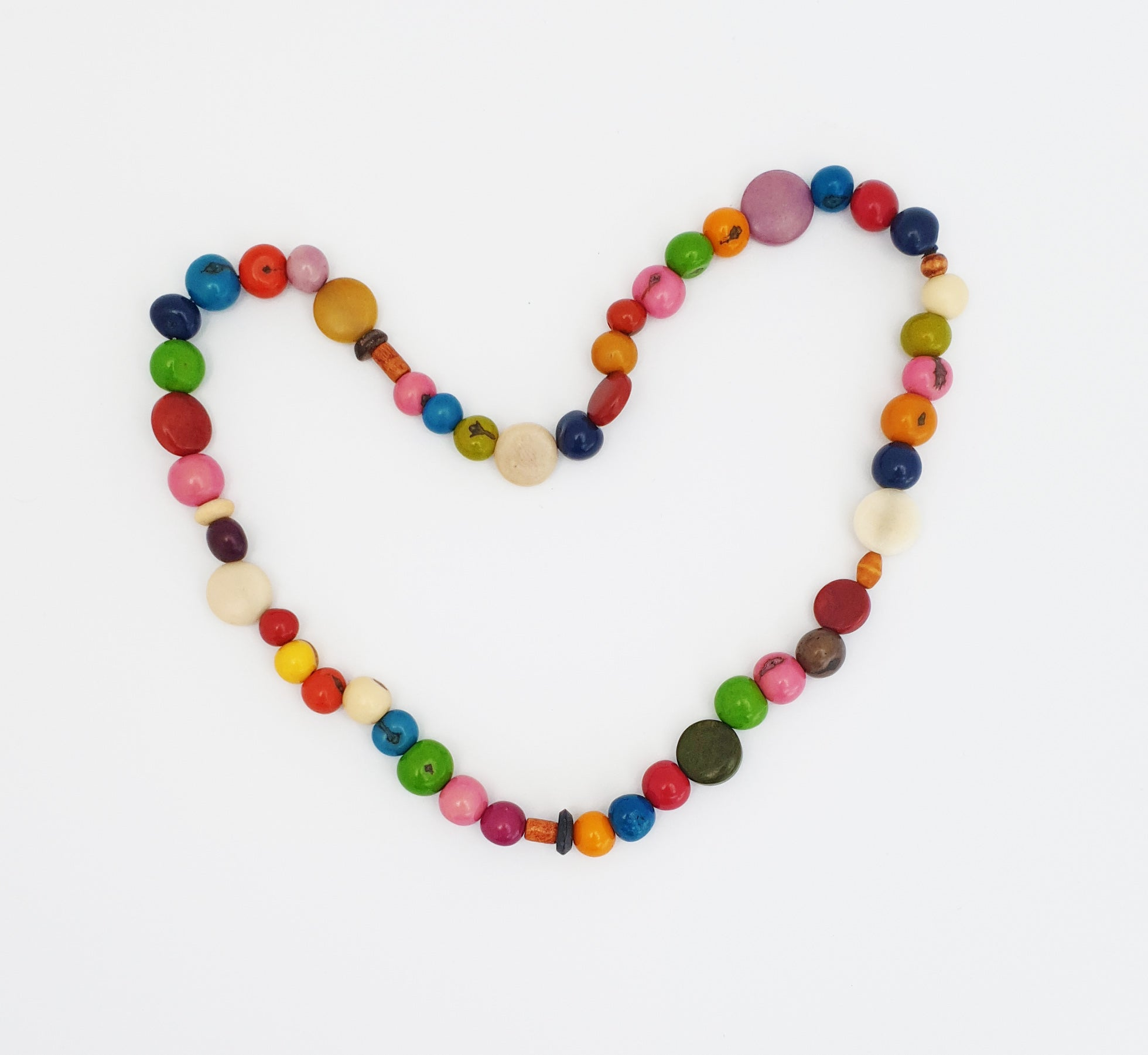 Kids Eco-Necklace Multicoloured - Pretty Pink Jewellery