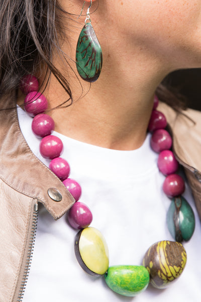 Frosted Grape Katia Necklace - Pretty Pink Jewellery