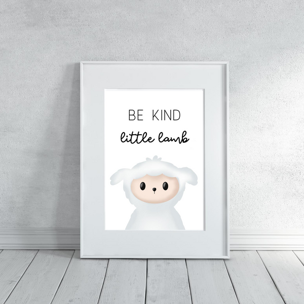Be Kind Little Lamb - Digital Art Print