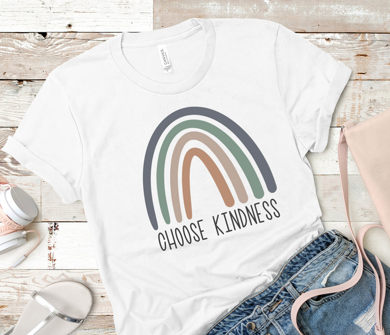 Choose Kindness T-shirt | Family Tee, Multiple Sizes, Inspirational Quote Tee, Mommy and Me, Positive Quote Shirt, Rainbow Shirt