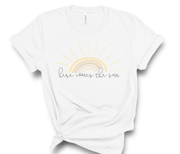 Here Comes The Sun T-Shirt | Matching Shirts, Family Tee, Mommy and Me, T-Shirt for Mom, Mom and Baby Shirt, Mom and Toddler, Women's Shirt