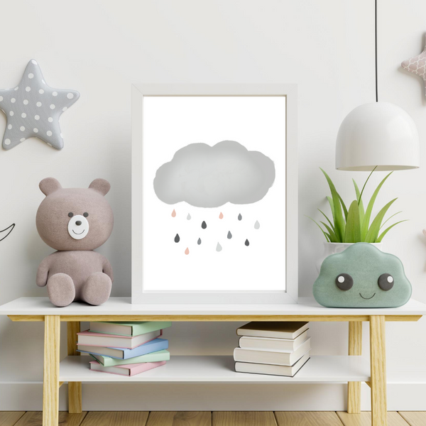 Grey Rain Cloud - Digital Art Print