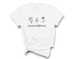 Raising Wildflowers T-Shirt | Matching Shirts, Mommy and Me Outfit, T-Shirt for Mom, Mom and Baby Shirt, Mom and Toddler, Women's Shirt