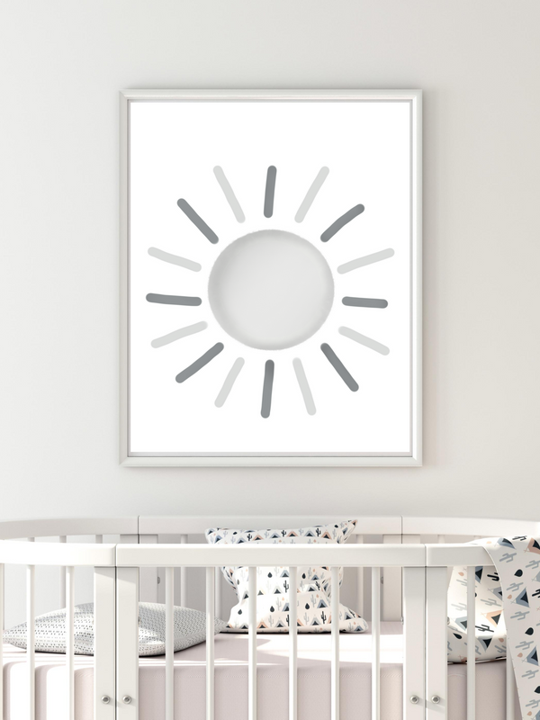 Sun Neutral Grey - Digital Art Print