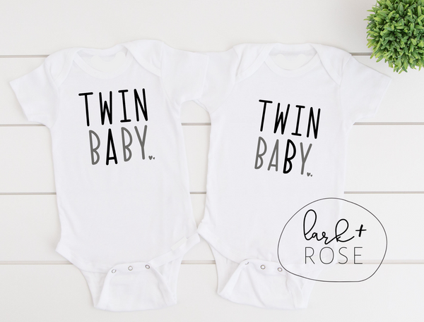 Twin A Baby or Twin B Baby Bodysuit | Twin Baby Onesie, Mommy and Me Outfit, Twin Announcement, Twin Mama Matching