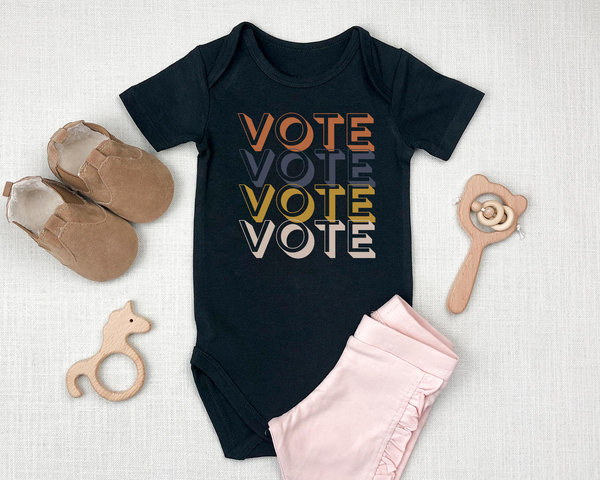 VOTE Vintage Retro Infant Baby Bodysuit