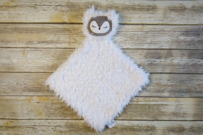 Poppy the Fox- SNUG•A•LOVEY ® - Marshmallow White with Charcoal Grey face