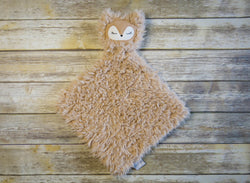 Beige Minky Lovey stuffed fox