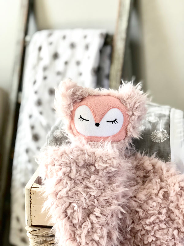 Poppy the Fox- SNUG•A•LOVEY ® - Blush Pink