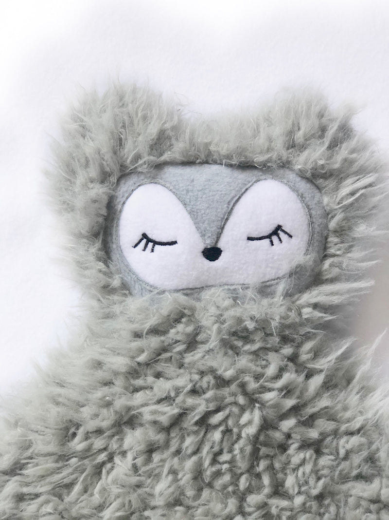 Luna the Wolf- SNUG•A•LOVEY® by Lark and Rose® - Ash Grey