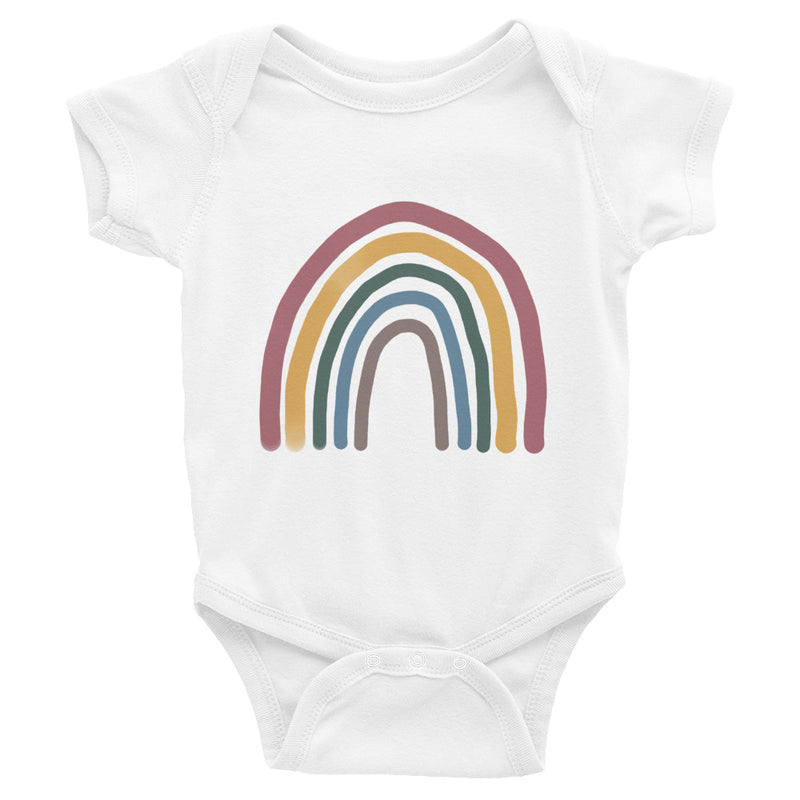 Rainbow Infant Bodysuit | Matte Colors