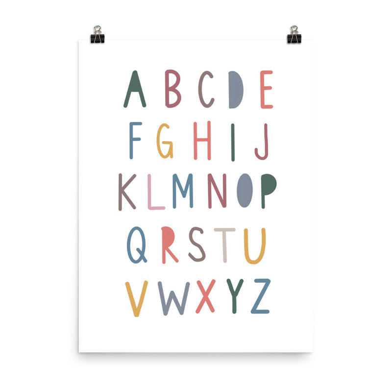 Alphabet Rainbow Art Print