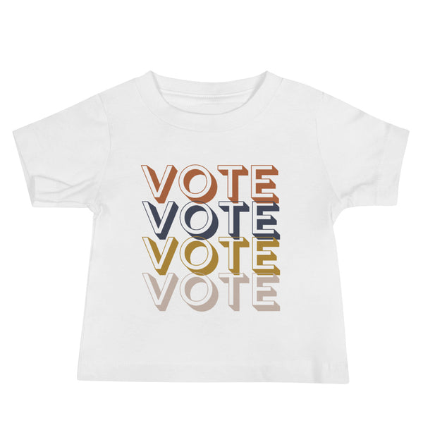 VOTE Vintage Retro Tee | Baby, Toddler, and Youth Jersey Short Sleeve Tee | Multiple Colors