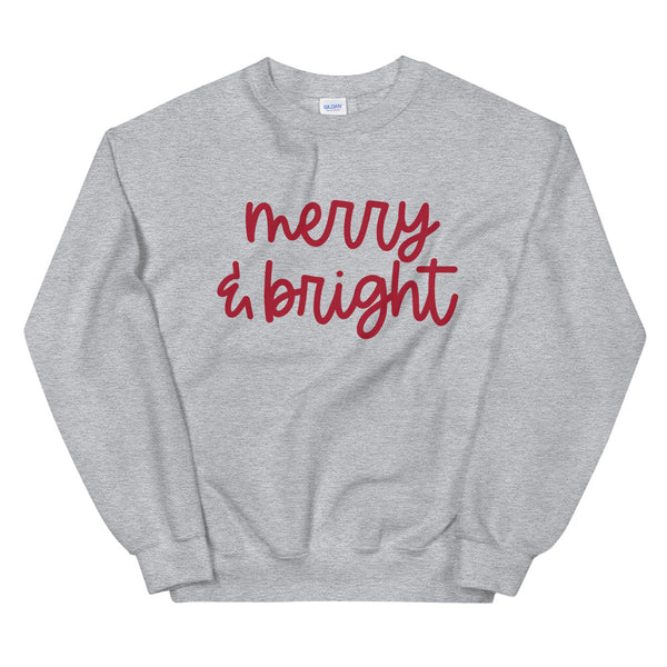 Merry and Bright Sweatshirt | Holiday sweater, Christmas Sweatshirt, Comfy sweater, Christmas Family Matching