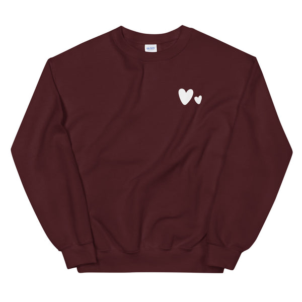 Double Heart Adult Sweatshirt