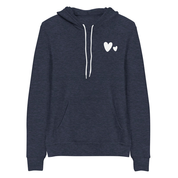 Double Heart Hooded Sweatshirt | Valentine Shirt for Woman, Valentine Sweatshirt, Hoodie Sweatshirt for Woman, Valentine's Sweatshirt