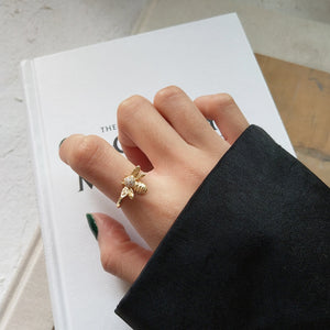 Becky - Golden Bee Open Ring - aalto-store