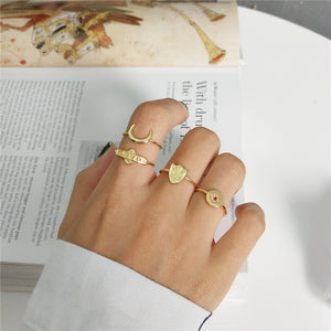 Kim - Moon/Star/Shield/ Baby - Open Ring - aalto-store