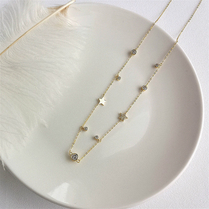 Tessa - Bead and Star Necklace