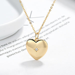 Betty - Gold Heart Necklace