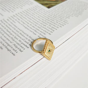 Paige - Rhombus Open Ring - aalto-store