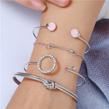 Load image into Gallery viewer, Kiarra - Open Bracelet Set - aalto-store