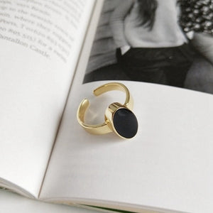Elsie - Oval Drop Open Ring