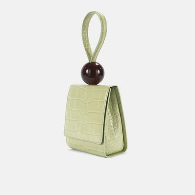 Emma - Flap Bag with Acrylic ball
