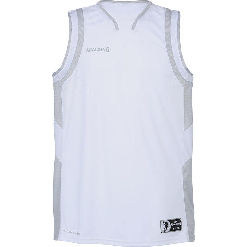 Spalding All Star Basketball Kit White Silver Grey