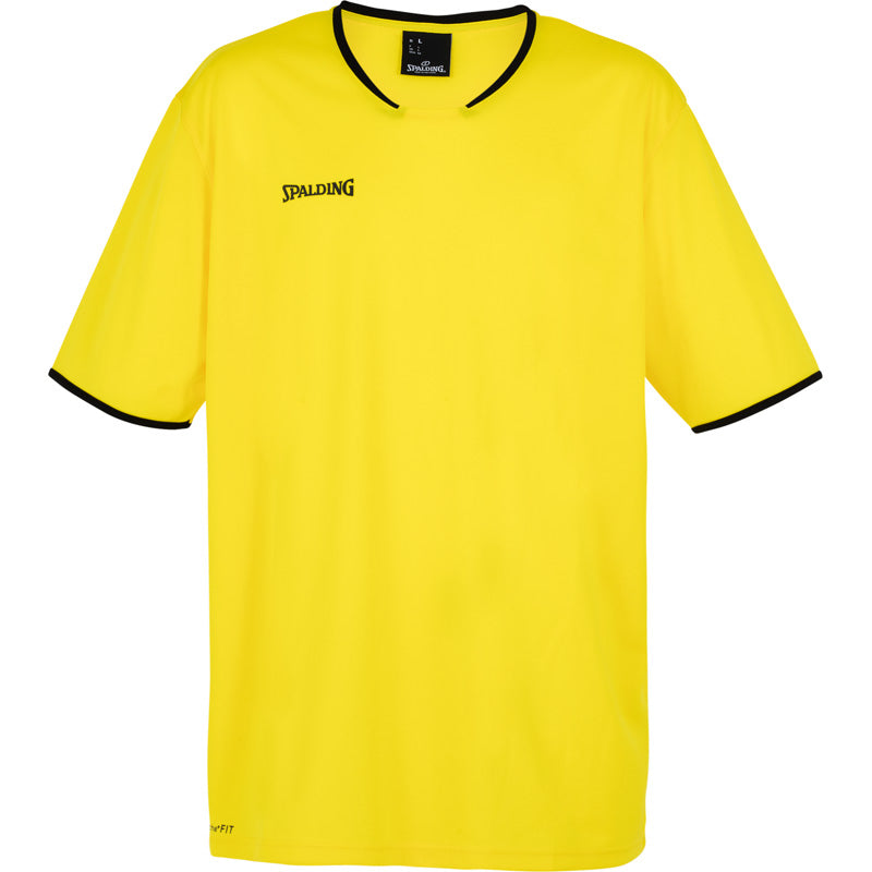 Spalding Move Kids Shooting Shirt SS Lime Yellow Black