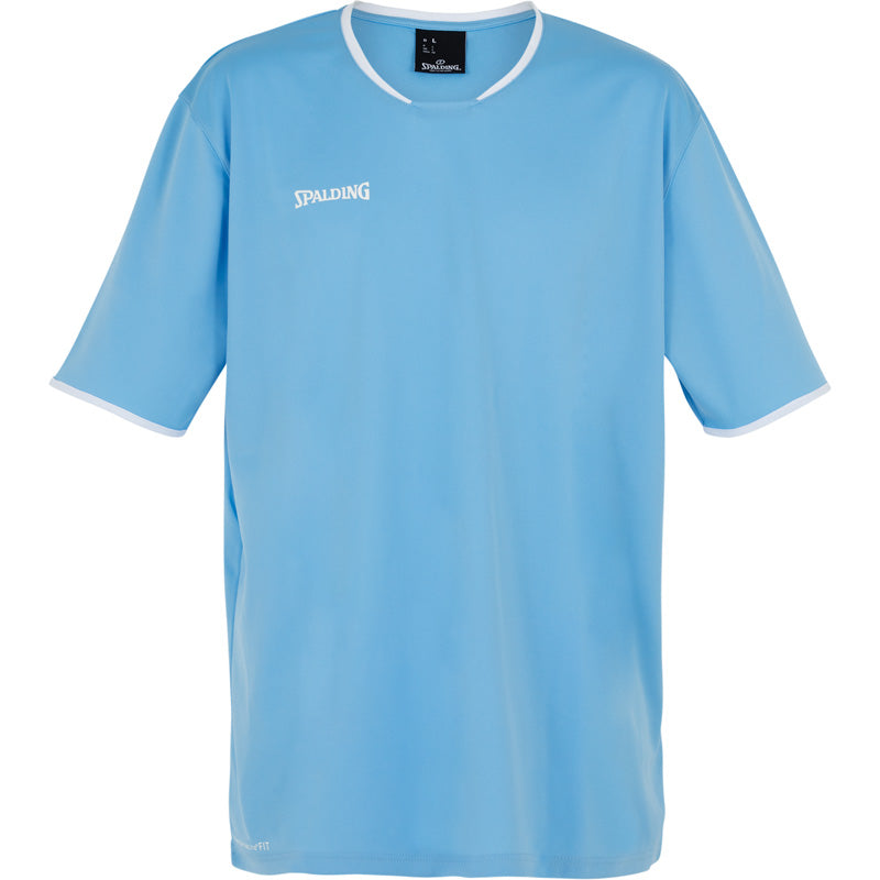 Spalding Move Kids Shooting Shirt SS Skyblue White