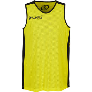 Spalding Essential Reversible Basketball Kit Black Neon Yellow