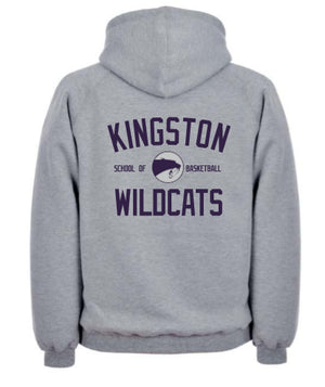 Childrens Kingston Wildcats School of Basketball Zipped Hoodie