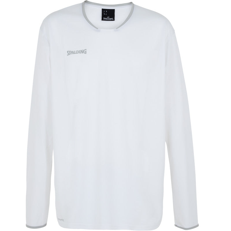 Spalding Move Kids Shooting Shirt LS White Silver Grey