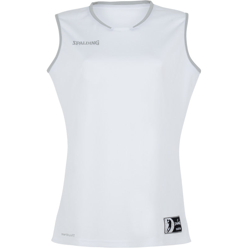 Spalding Move Women Basketball Kit White Silver Grey