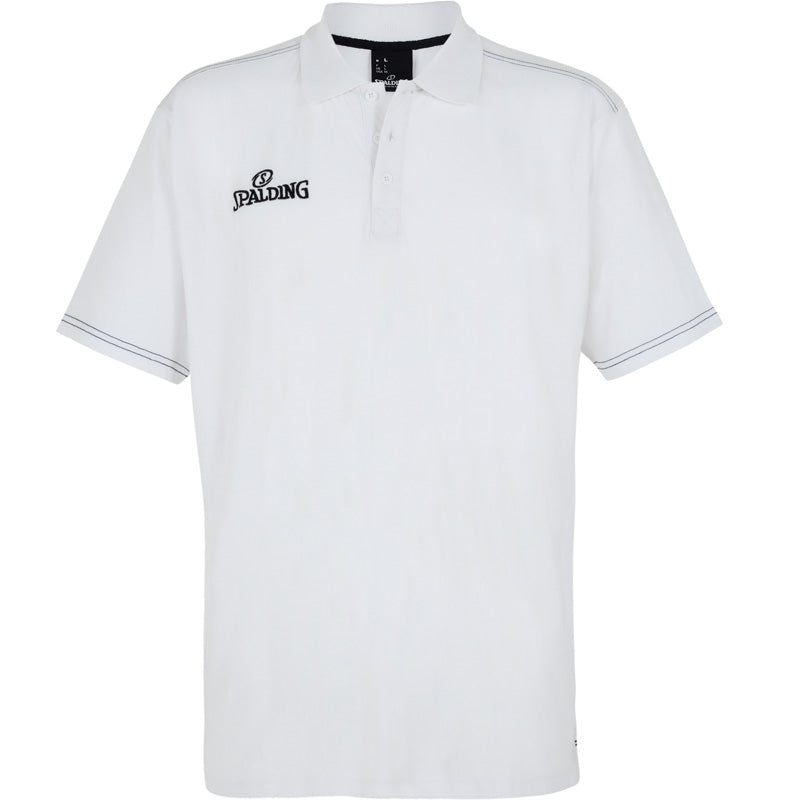 Spalding Polo Shirt Slim Cut White