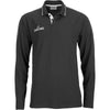 Spalding Long Sleeve Polo Shirt black