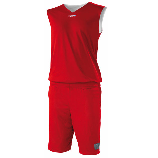 Macron X300 Reversible Basketball Kit Red/White