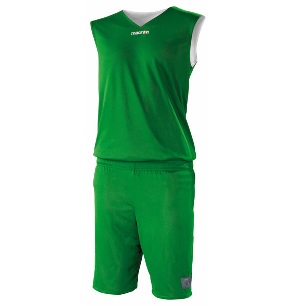 Macron X300 Reversible Basketball Kit Green/White