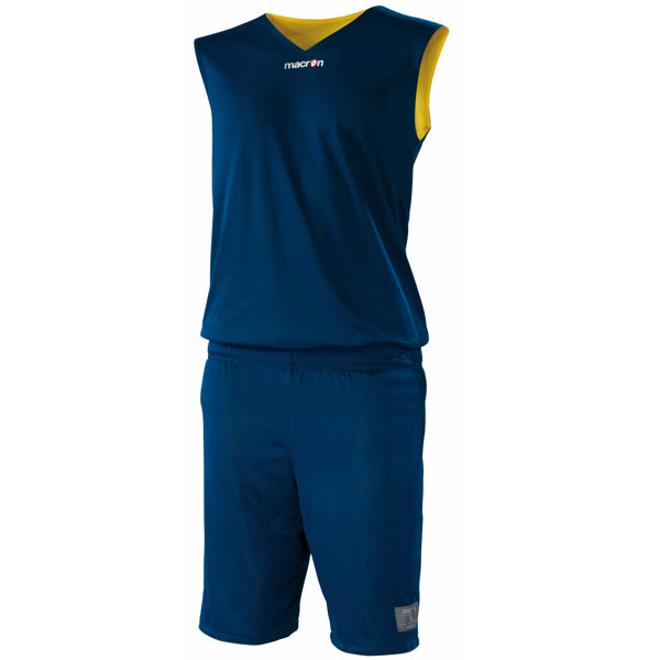 Macron X300 Reversible Basketball Kit Navy/Yellow