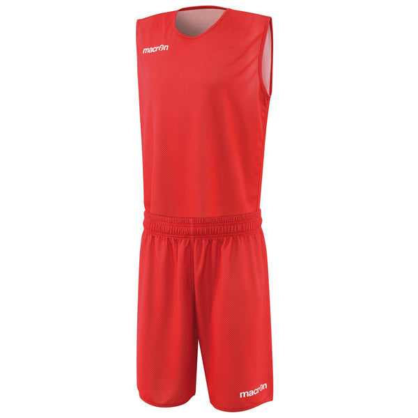 Macron X400 Reversible Basketball Kit Red/White