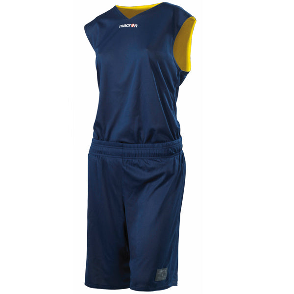 Macron F300 Reversible Basketball Kit Navy/Yellow