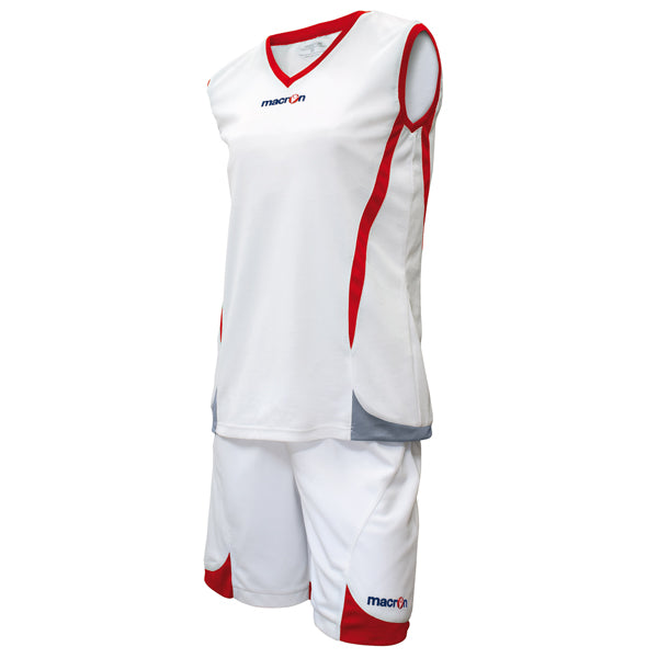 Macron Raja Basketball Kit White/Red