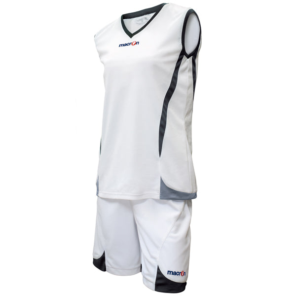 Macron Raja Basketball Kit White/Black