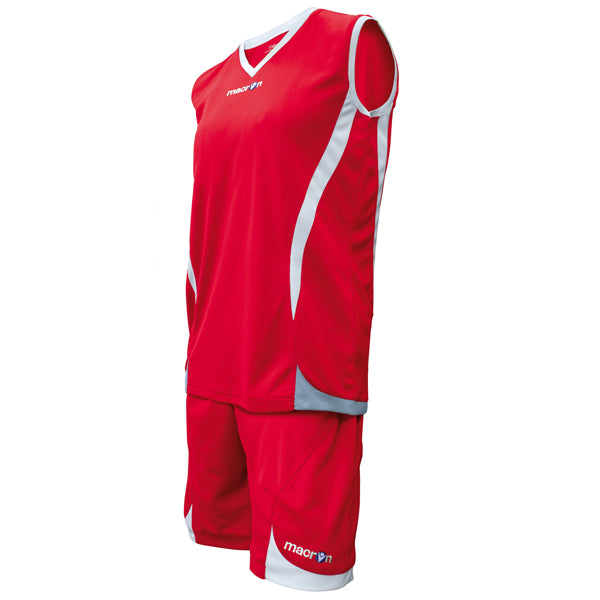 Macron Raja Basketball Kit Red/White