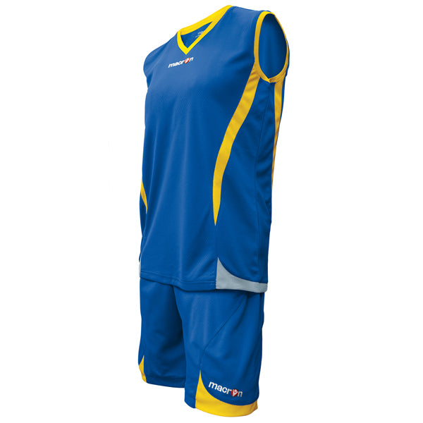 Macron Raja Basketball Kit Blue/Yellow