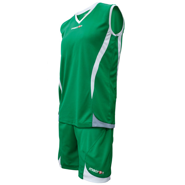 Macron Raja Basketball Kit Green/White