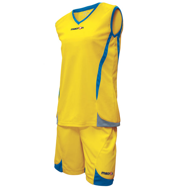 Macron Raja Basketball Kit Yellow/Green